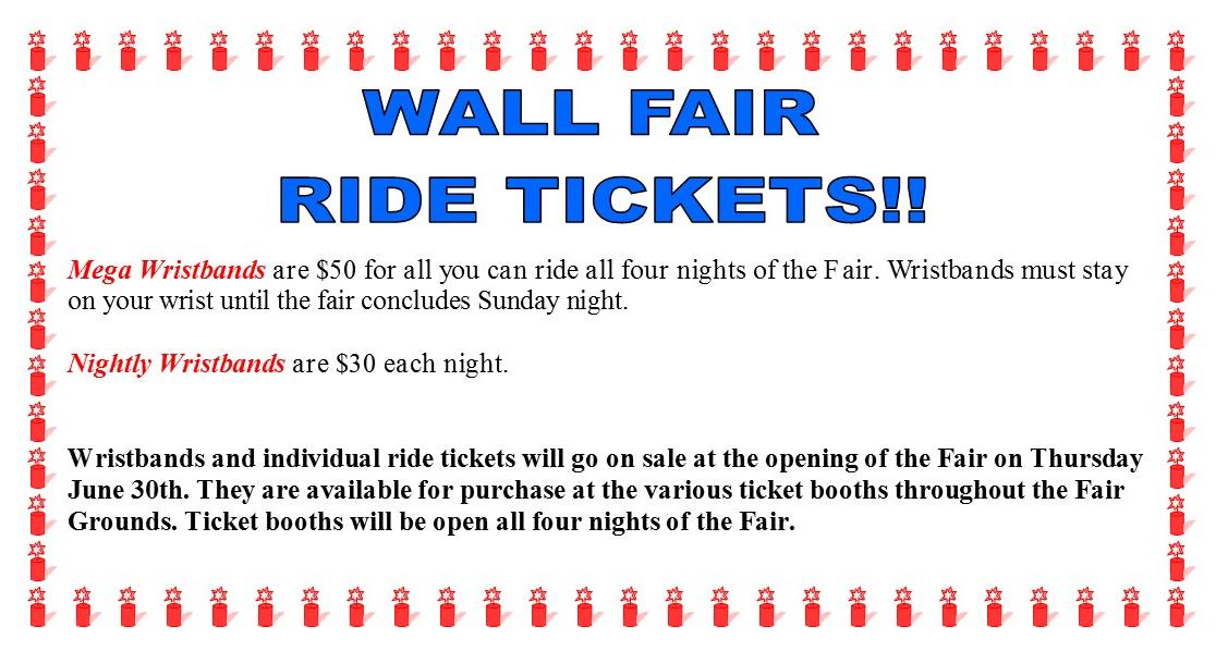 Wall Fair Ride Ticket Prices 2016
