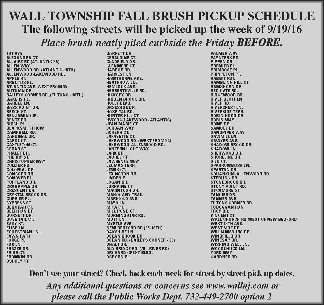 Brush Pick-up Week of 9.19.16- CS Ad 9.15.16
