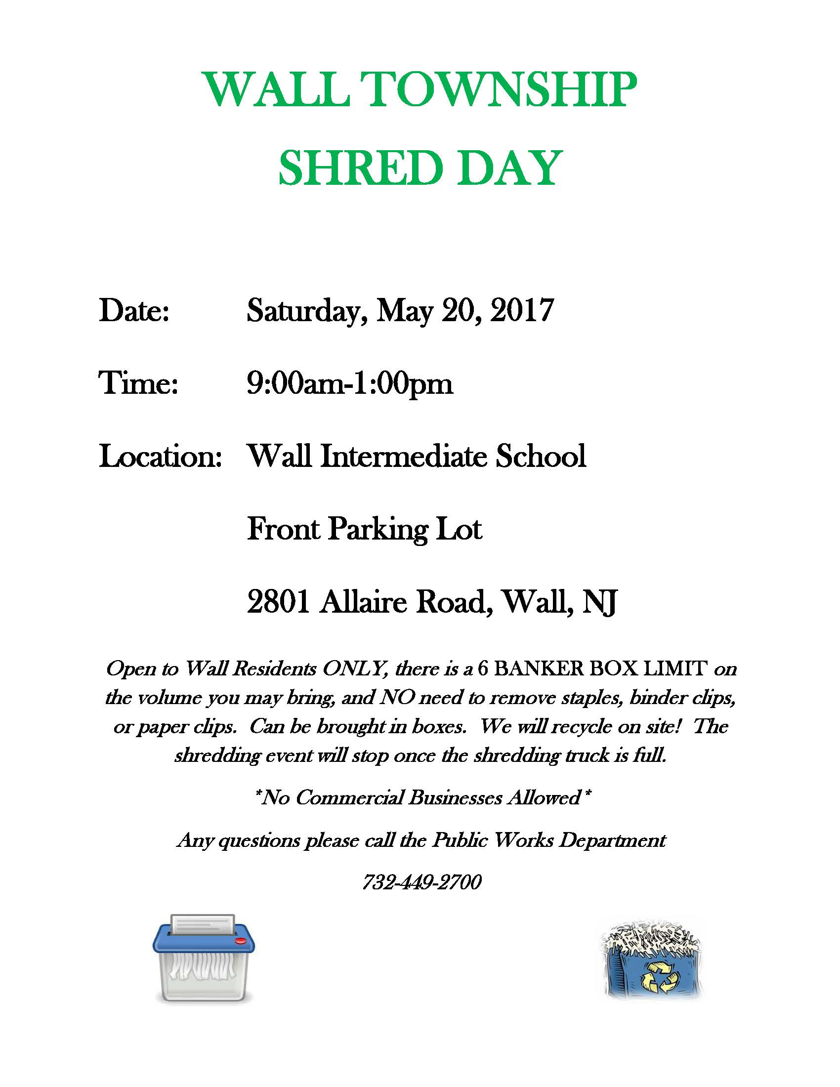 Shred Day Flyer May 2017