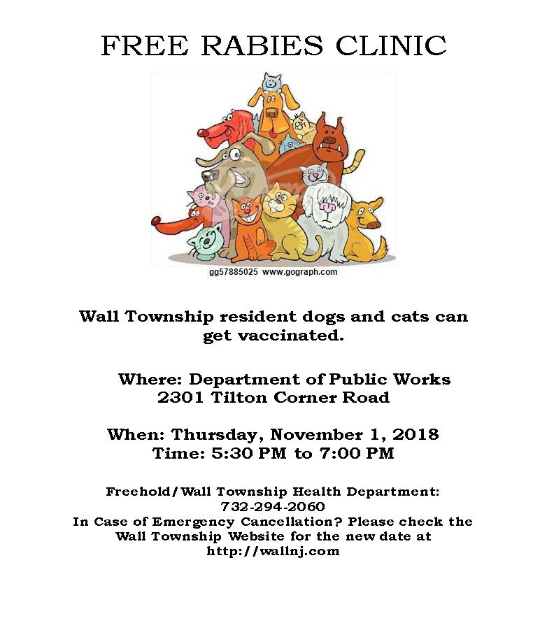 Wall Flyer Rabies Clinic