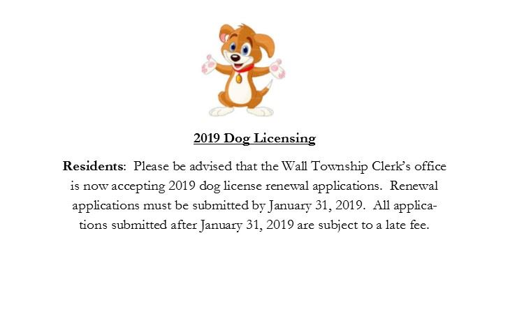 2019 Dog License Reminder- Spot light
