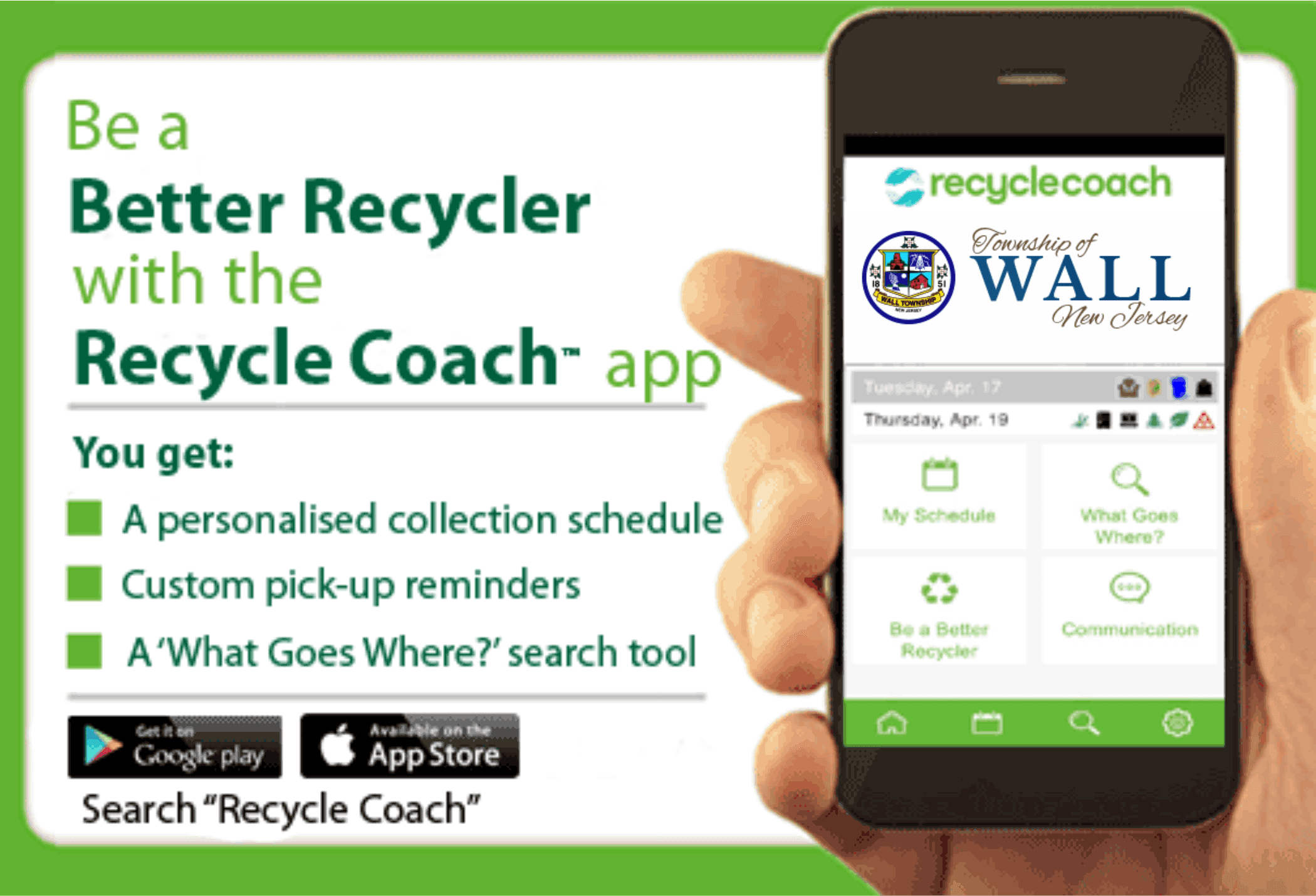 Wall TWP Recycle Coach Flyer