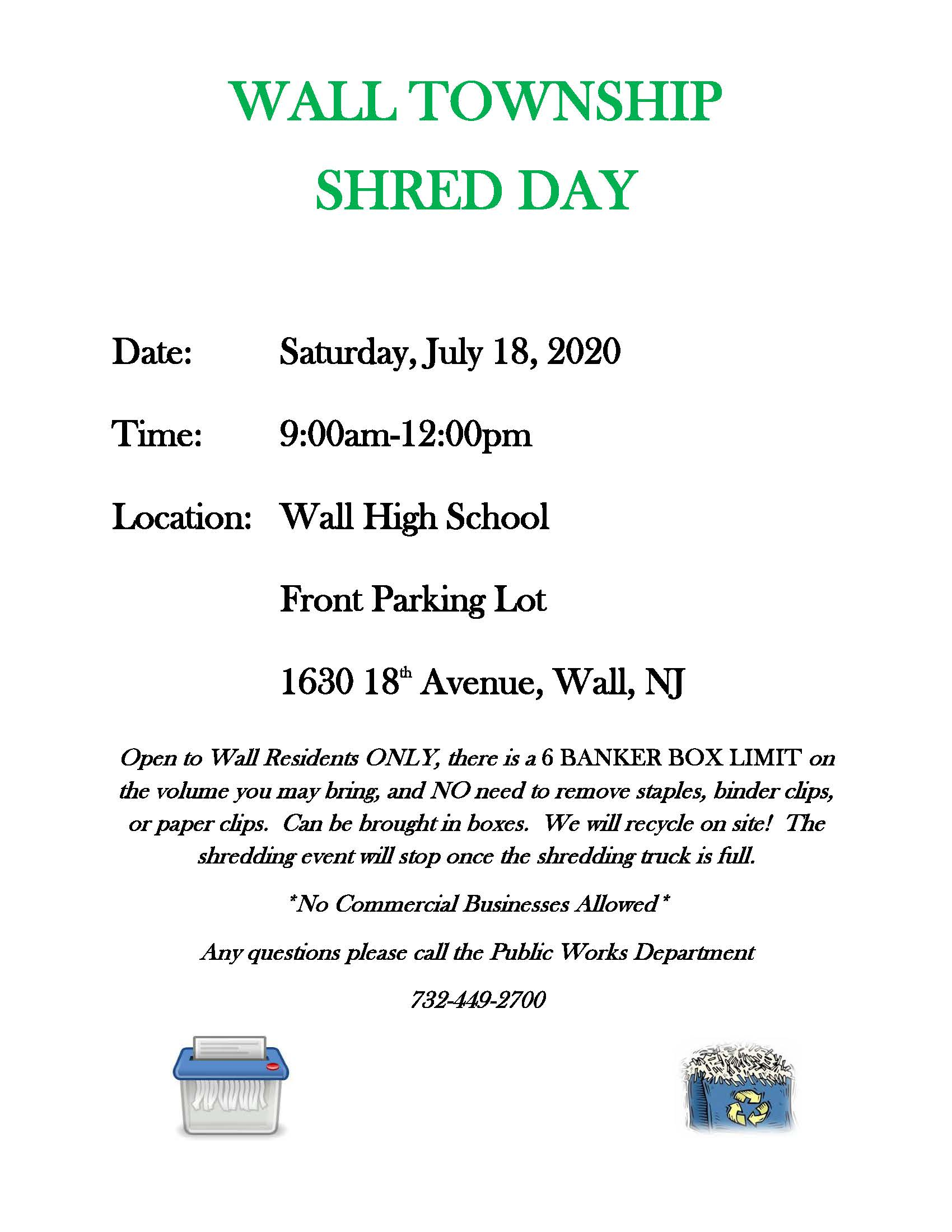 Shred Day Flyer July 2020