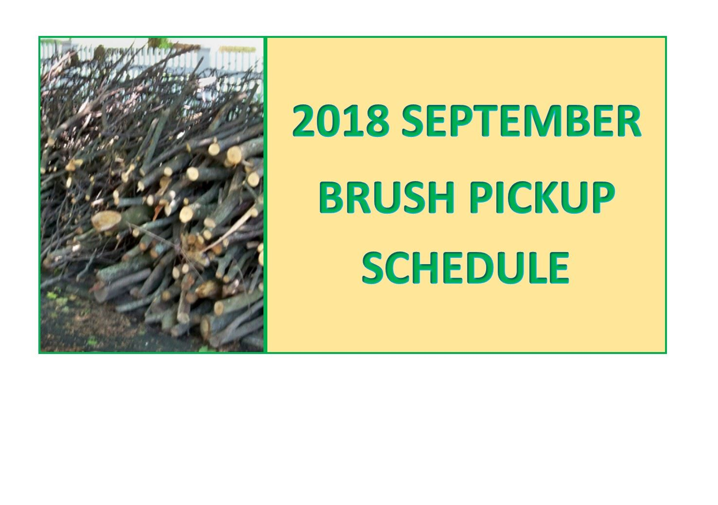 September 2018 Brush Schedule