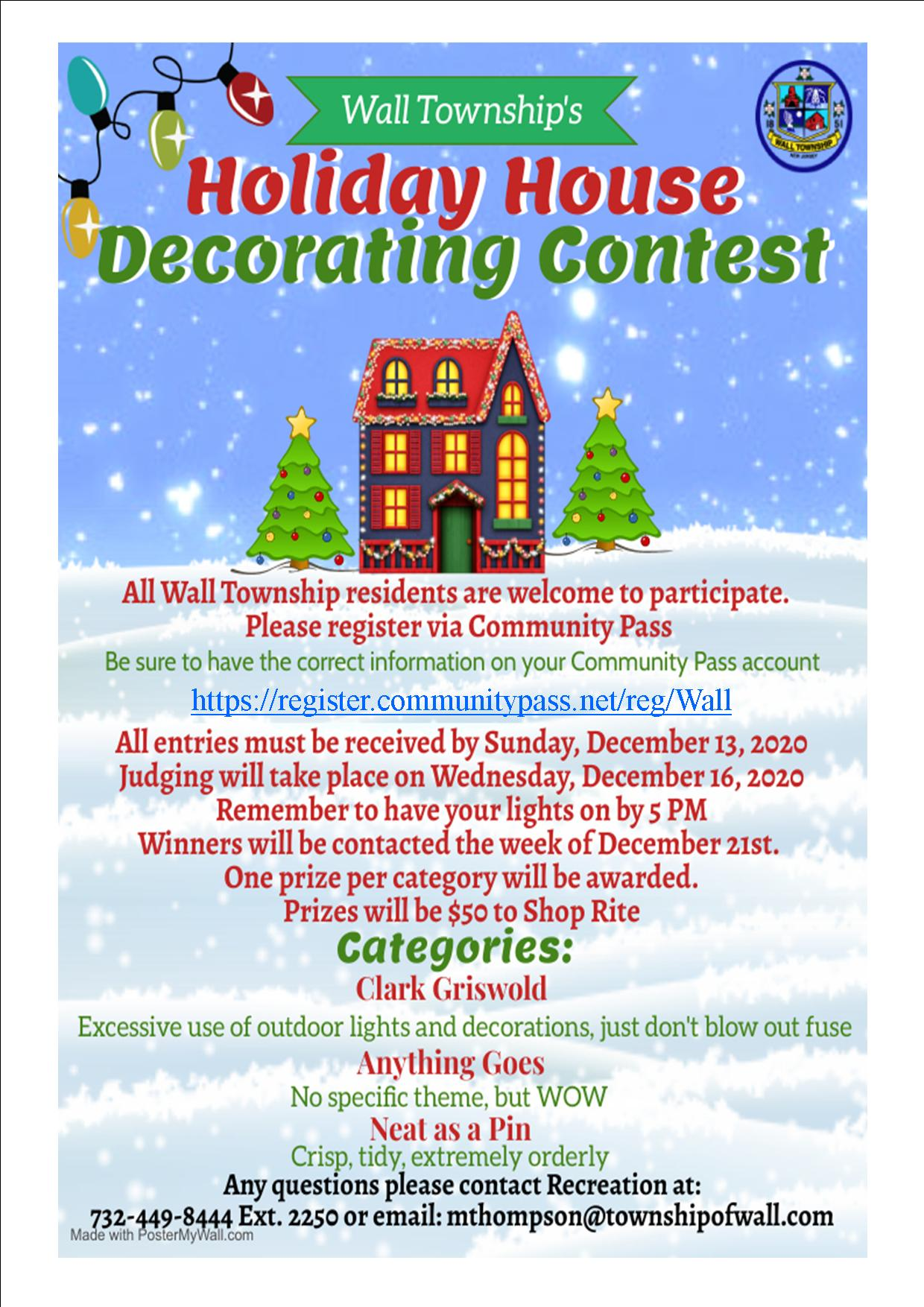Holiday House Decorating Contest 2020
