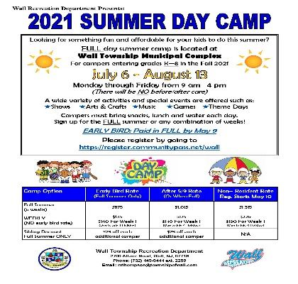 Summer Day Camp Flyer 2021